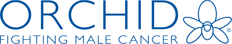 Orchid fighting male cancer logo